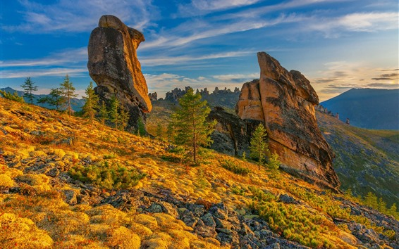 Wallpaper Mountains, rocks, slope
