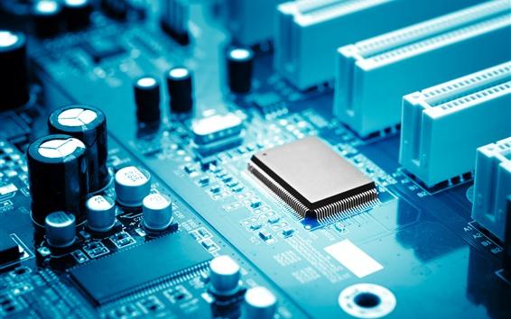Fondos de pantalla Placa base de PC, componentes electrónicos