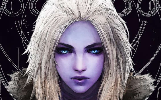 Fondos de pantalla Reina del Arrecife, Destiny, niña, ojos azules