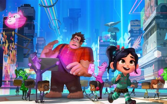 Fond d'écran Ralph brise l'Internet, le dessin animé Disney