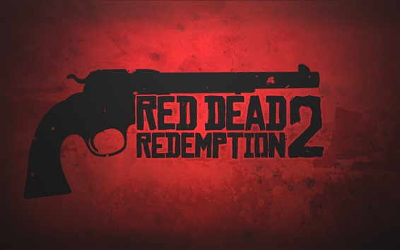 Wallpaper Red Dead Redemption 2, revolver