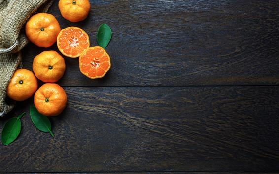 Wallpaper Some tangerines, citrus, fruit