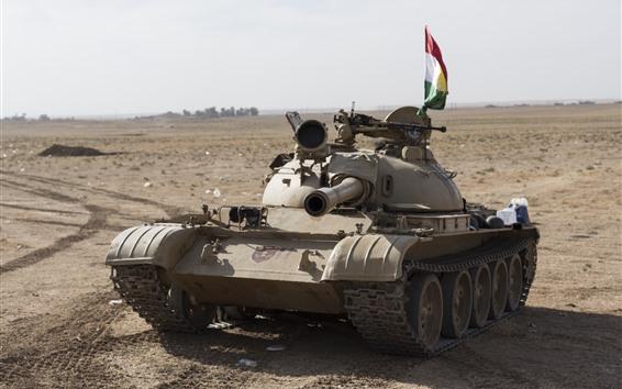 Papéis de Parede Tanque, deserto, arma
