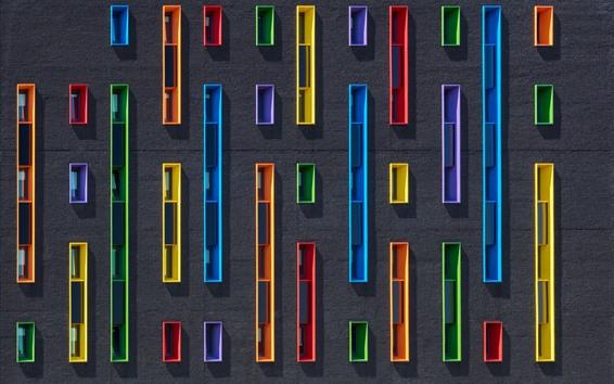 Fondos de pantalla Pared, ventanas de colores
