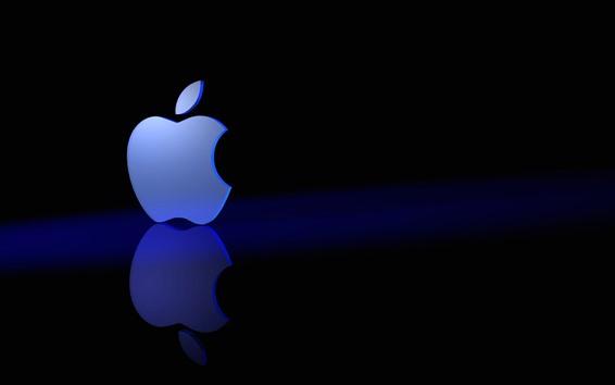 Wallpaper 3D Apple logo, reflection