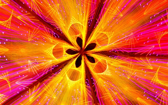 Wallpaper Abstract flower, petals, curves