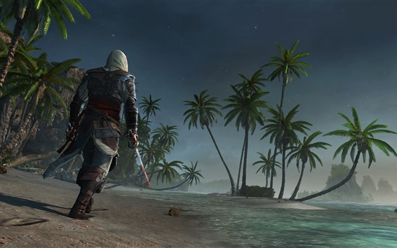 Fondos de pantalla Assassin's Creed, palmeras, playa