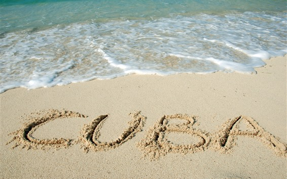 Papéis de Parede Praia, cuba, espuma, mar