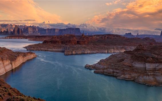 Fond d'écran Glen Canyon, Arizona, lac Powell, États-Unis