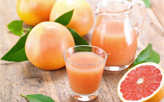 Обои Грейпфрут, сок, фрукты, напитки