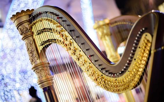 壁紙 ハープ、音楽、弦