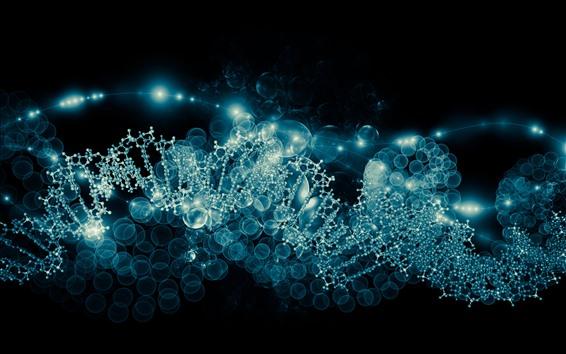 Papéis de Parede Molécula, cadeia, imagem abstrata
