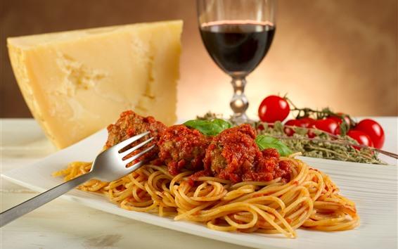 Обои Лапша, еда, вино, сыр
