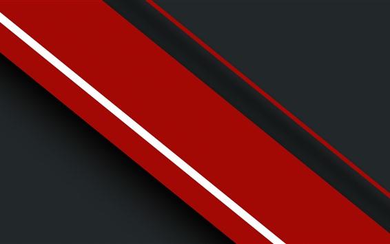 Papéis de Parede Listras vermelhas e pretas, imagem abstrata
