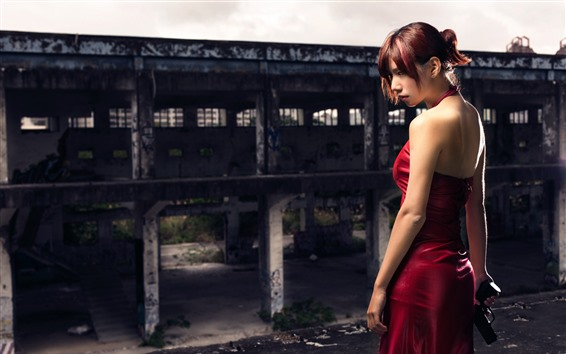 Fondos de pantalla Resident Evil, chica de falda roja