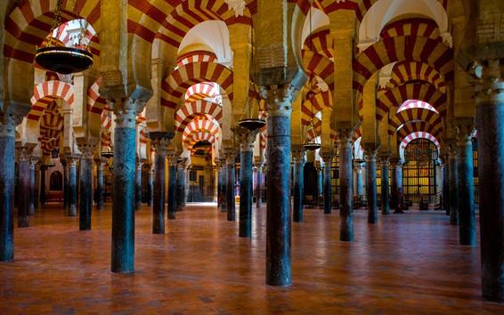 壁紙 スペイン、メキシコ、モスク、列