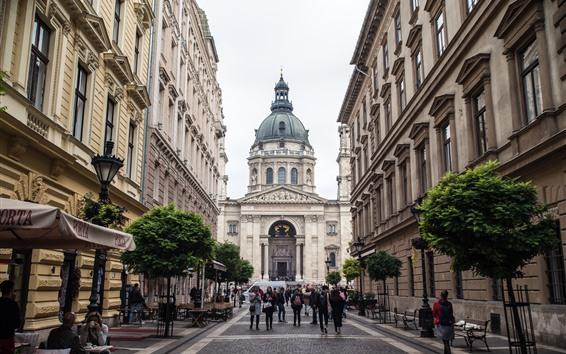Papéis de Parede Basílica de Santo Estêvão, maior igreja da Hungria, Budapeste