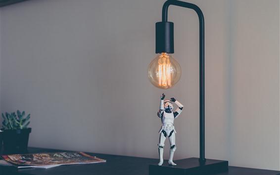 Fond d'écran Stormtrooper, jouet, Star Wars, lampe