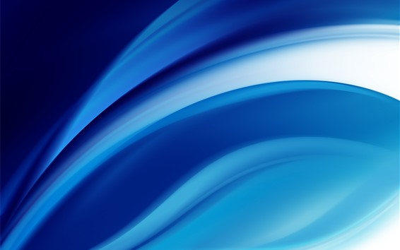 Wallpaper Abstract blue lines, curve