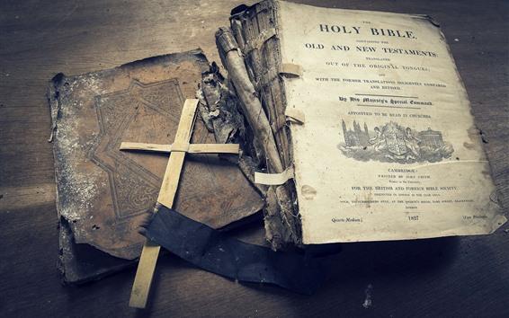 Papéis de Parede Bíblia, livro, cruz