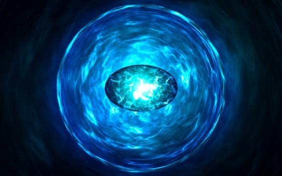 Fondos de pantalla Piedra preciosa azul, luz brillante