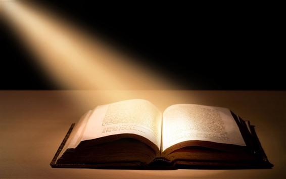 Papéis de Parede Livro, raios de luz
