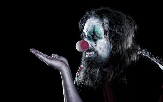 Wallpaper Clown, black background