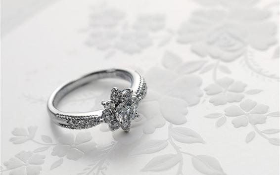 Wallpaper Diamond ring, platinum