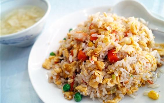 Papéis de Parede Ovo frito arroz
