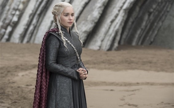 Wallpaper Game of Thrones, Daenerys Targaryen, look, TV series