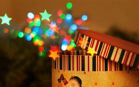 Wallpaper Gift, stars, shine, magic, colorful