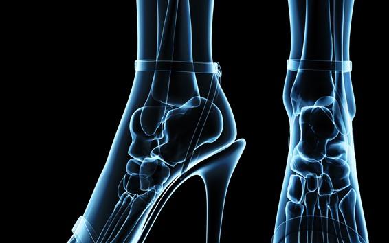 Papéis de Parede Pernas de menina, ossos, calcanhares, raio-x