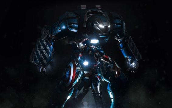 Hintergrundbilder Iron Man, Captain America, Schild