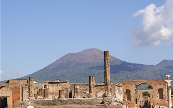 Wallpaper Italy, ruins, Pompeii, city