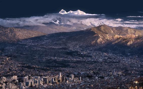 Wallpaper La Paz Bolivia City Mountains 1920x1200 Hd