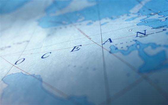 Fond d'écran Carte, océan