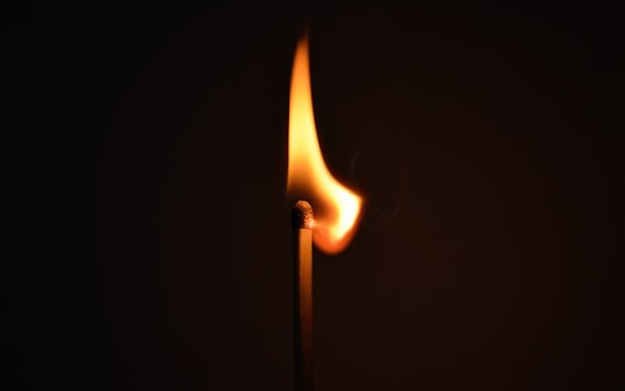 Wallpaper Match flame, fire, light