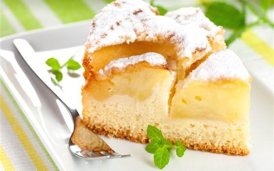 Fond d'écran Un morceau de gâteau, poudre de sucre