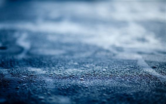 Fondos de pantalla Camino, gotas de agua, lluvia