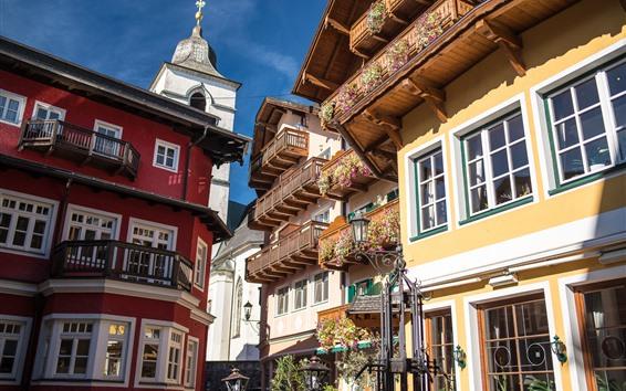 Papéis de Parede St. Wolfgang, cidade do mercado, Áustria