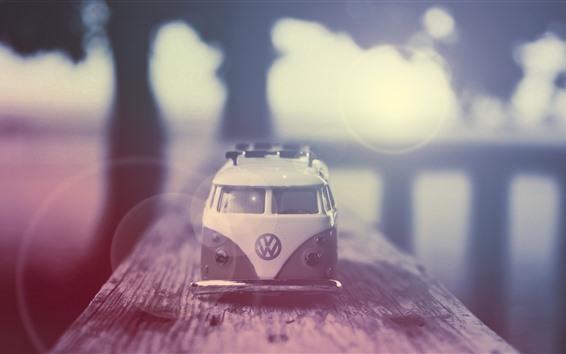 Wallpaper Toy car, hazy, light circles