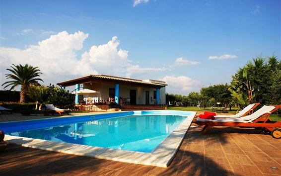 Wallpaper Villa, swim pool, tropical