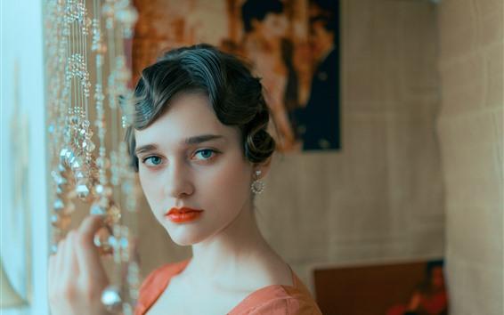 Wallpaper Anna, look, blue eyes, girl