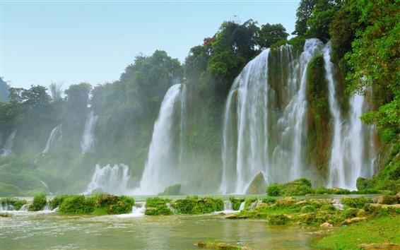 Обои Красивые водопады, великолепные пейзажи