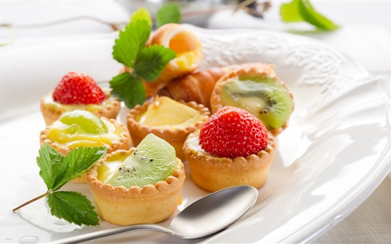 Wallpaper Cakes, fruit slices