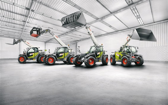 Wallpaper Claas Scorpion loaders