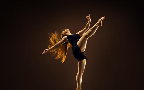 Wallpaper Dancing girl, legs, black skirt