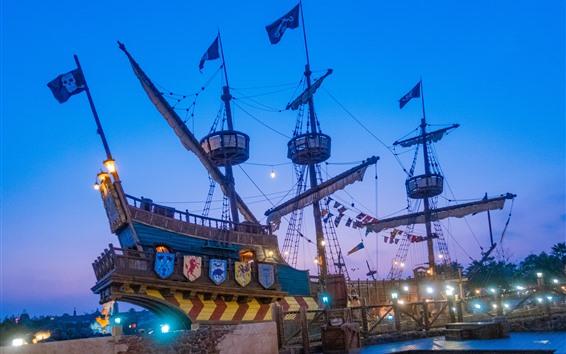 Обои Диснейленд, Пиратский Корабль