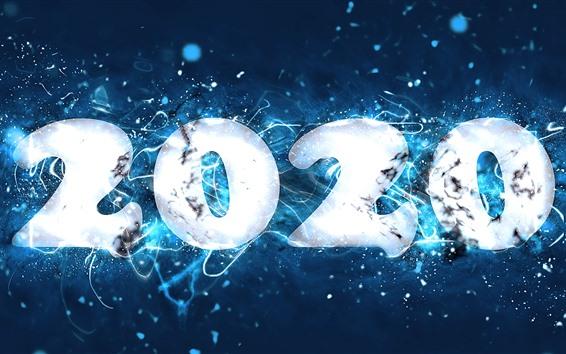 Fondos de pantalla Feliz año nuevo 2020, estrellas, imagen creativa