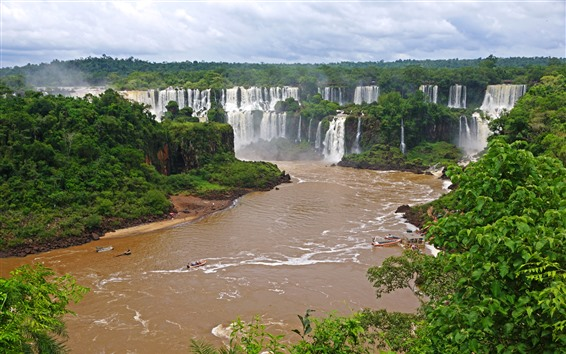 Wallpaper Iguazu Waterfalls, Brazil